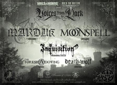 "TOUR DATES: MARDUK and MOONSPELL announce dates for ""Voices From The Dark"" Tour"