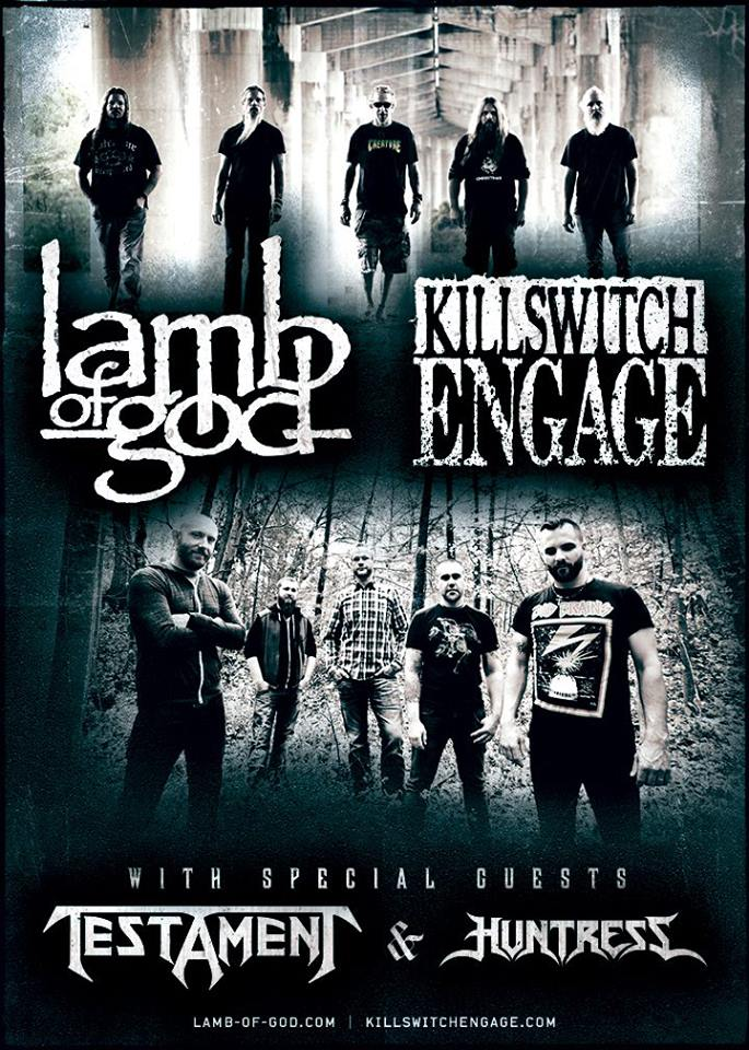 LAMB OF GOD AND KILLSWITCH ENGAGE TAKE OVER NORTH AMERICA THIS FALL!