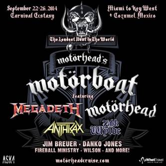 NEWS: MOTÖRHEAD'S MOTÖRBOAT 'The Loudest Boat In The World' Sails from Miami to Key West and Cozumel