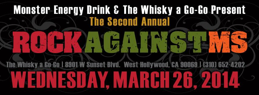 PAY IT FORWARD FRIDAY:  ROCK AGAINST MS 2nd ANNUAL BENEFIT SHOW SET FOR MARCH 26 IN LA!