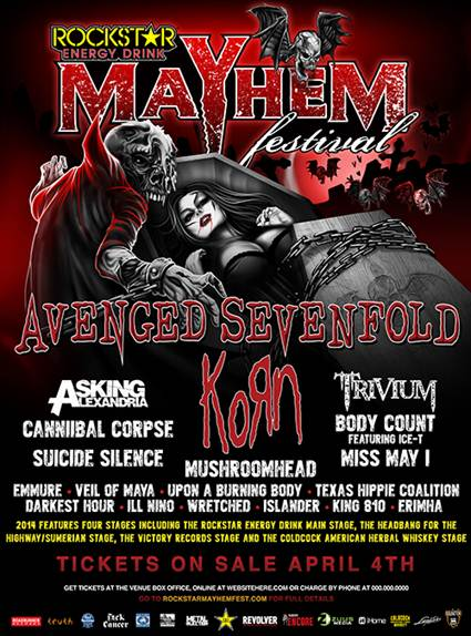 VICTORY RECORDS TO HOST STAGE AT 2014 ROCKSTAR ENERGY DRINK MAYHEM FESTIVAL – EMMURE TO HEADLINE!