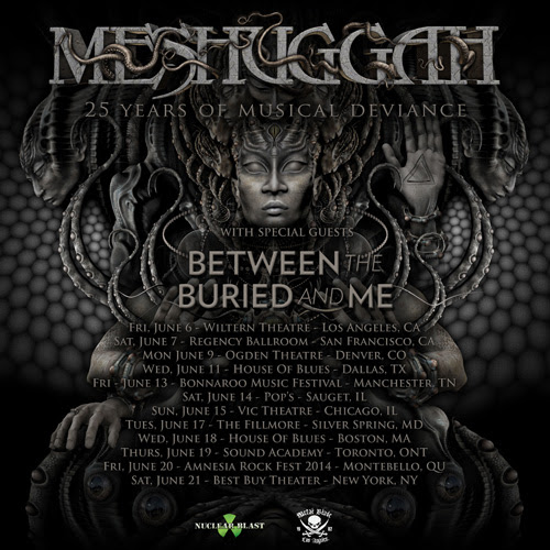 Meshuggah Announce 25th Anniversary North American Tour Dates with Between the Buried and Me