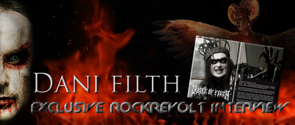 DANI FILTH - CRADLE OF FILTH - BANNER - ROCKREVOLT ISSUE