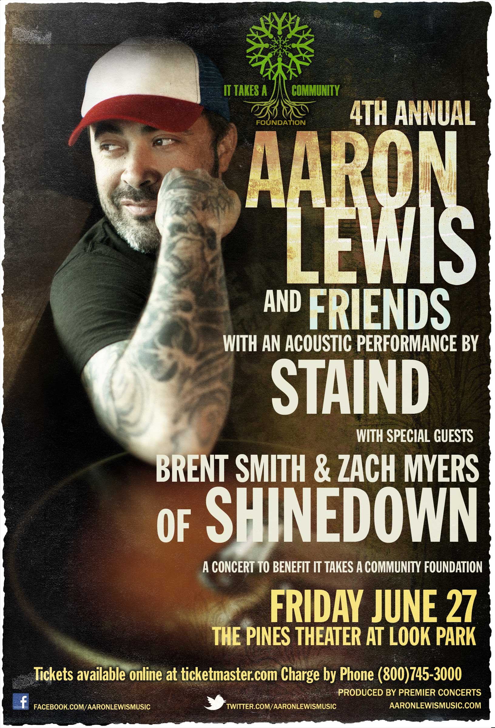 AARON LEWIS HOSTS THE 4TH ANNUAL IT TAKES A COMMUNITY FOUNDATION BENEFIT CONCERT