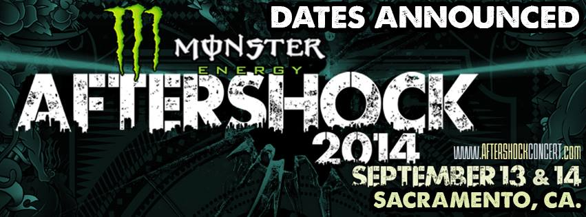 AFTERSHOCK FESTIVAL 2014! DATES, LINEUP, TICKET INFORMATION!