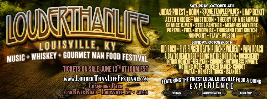 LOUDER THAN LIFE FESTIVAL LINEUP ANNOUNCED!