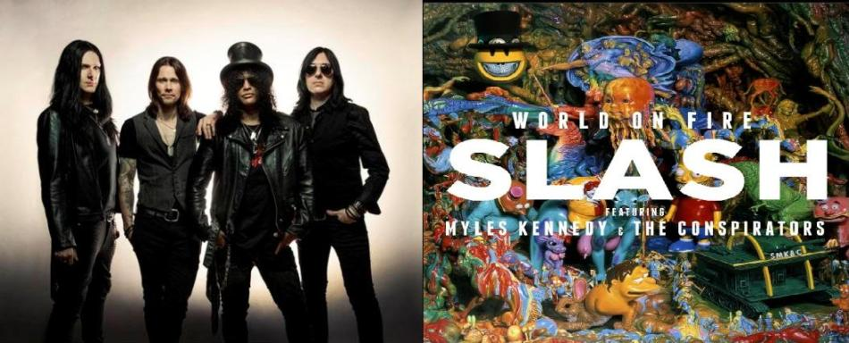 """LISTEN TO NEW SLASH/MYLES KENNEDY & THE CONSPIRATORS SONG """"World On Fire"""""""