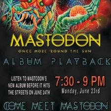 MASTODON TAKES OVER ATLANTA PLANETARIUM FOR CD RELEASE PARTY!