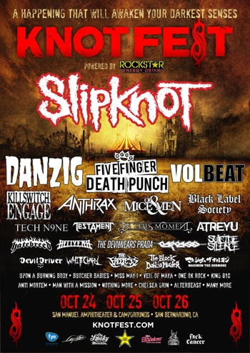 SLIPKNOT'S KNOTFEST: STAGE 004 DETAILS REVEALED