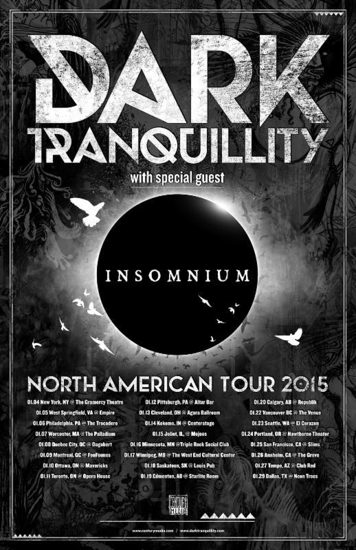 INSOMNIUM - DARK TRANQUILITY - TOUR POSTER