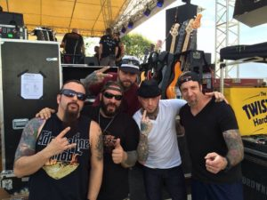 Full Devil jacket w/ AJ Pero of Adrenaline Mob/Twisted Sister