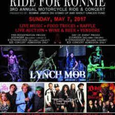 "Renowned Radio Personality EDDIE TRUNK Returns to Host 3rd Annual ""RIDE FOR RONNIE"" Motorcycle Rally & Concert"