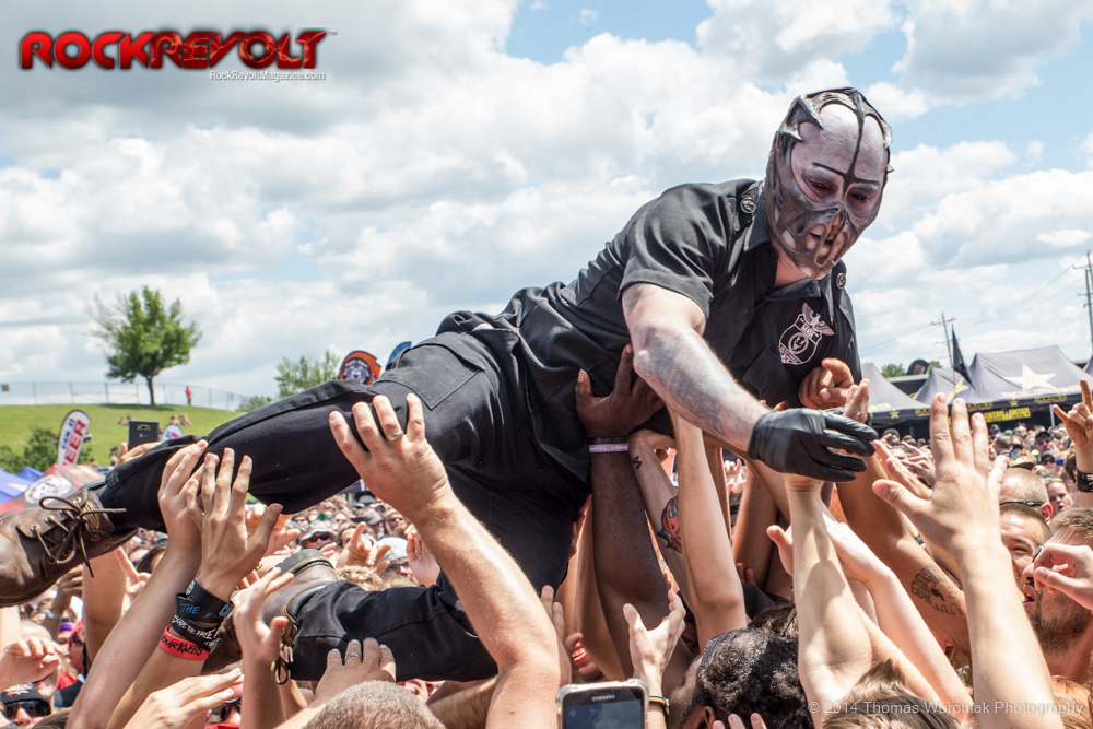 MAYHEM FESTIVAL 2014 PICS: MUSHROOMHEAD, SUICIDE SILENCE, MISS MAY I, CANNIBAL CORPSE, TEXAS HIPPIE COALITION