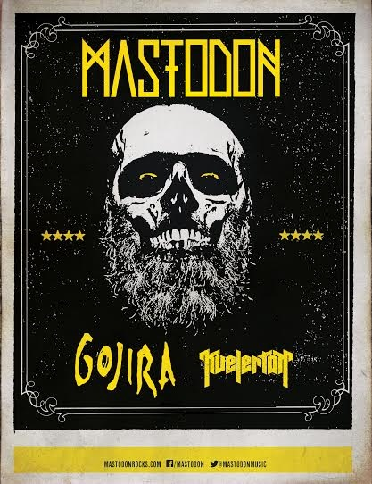 TICKETS FOR MASTODON'S FALL NORTH AMERICAN HEADLINE TOUR ON SALE STARTING TODAY